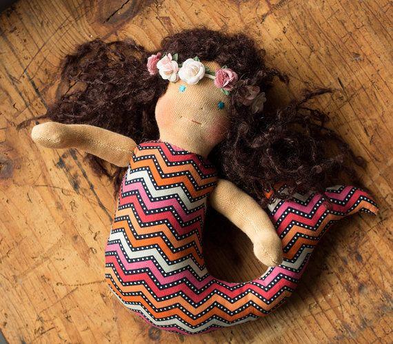 Waldorf inspired mermaid doll Waldorf doll ragdoll от naronka