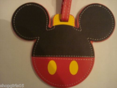 NEW! MICKEY MOUSE LUGGAGE TAG WILL HELP YOU FIND YOUR LUGGAGE EASY. REALLY CUTE!!