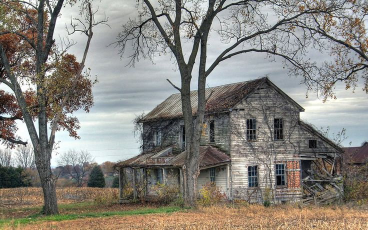 As you creep towards this decaying farmhouse, the disembodied voices will start before you even get inside.
