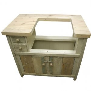 how to put a deep sink in a dresser