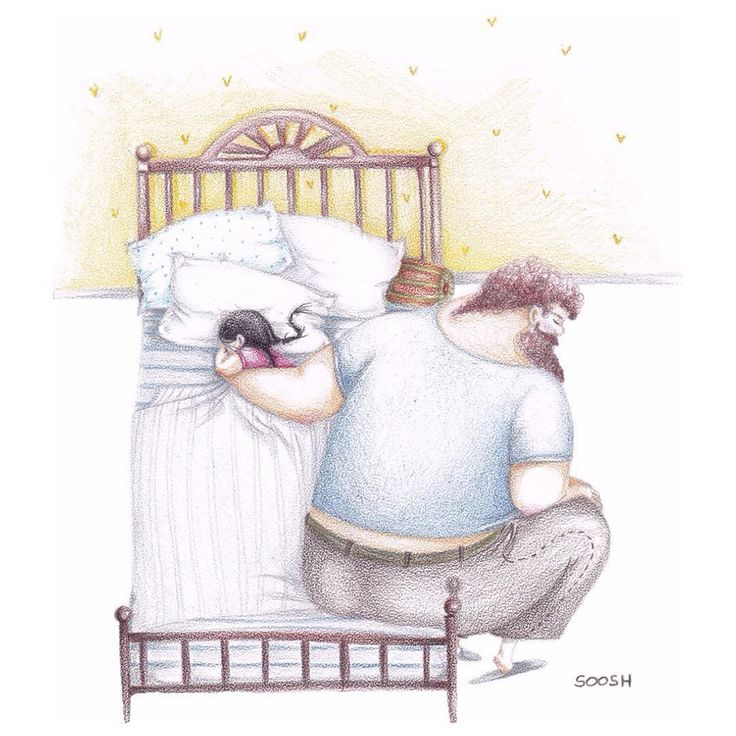 14 Heartwarming Illustrations Showing Love Between Dads And Their Little Girls