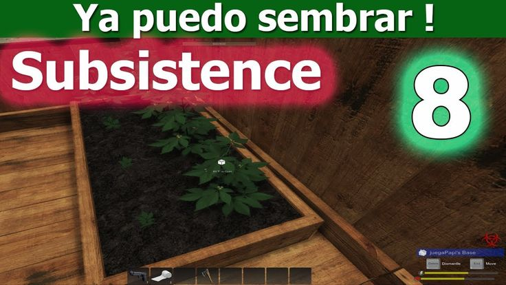 Ya puedo sembrar plantas dentro de mi casa | Subsistence #8 | Gameplay e...