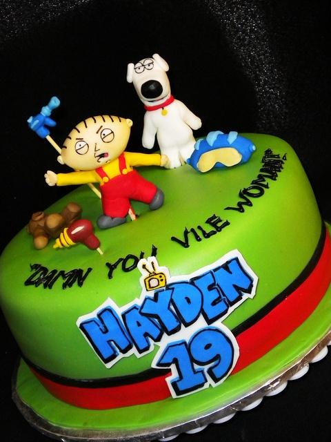 Best Family Guy Party Images On Pinterest Family Guy Guy - Birthday cake for a guy