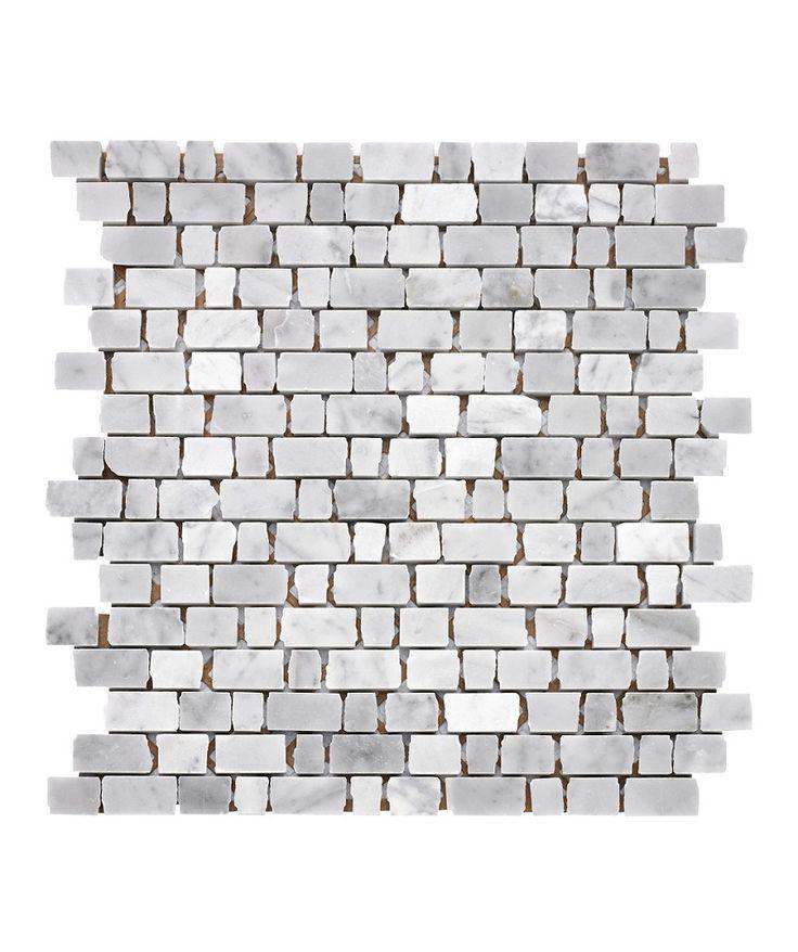 Carrara Broken Edge Mosaic Tile