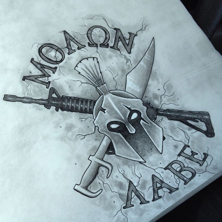 Molon labe tattoo idea                                                                                                                                                                                 More