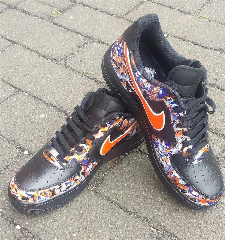 RemixdaKickz Black Splash Custom Air Force One Sneakers