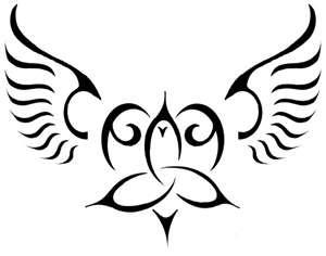 celtic angelic heart knot heart tattoos