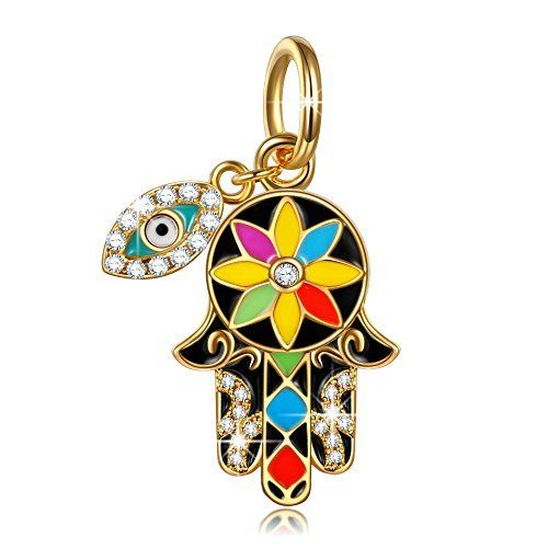 NinaQueen Hamsa Hand and Evil Eye 925 Sterling Silver Multicolor Enamel Lucky Openwork Dangle Charm  List Price: $69.00  Deal Price: $29.99  You Save: $0.00 (0%)  NinaQueen Hamsa Hand and Evil Eye 925 Sterling Silver Multicolor Enamel Lucky Openwork Dangle Charm-B01GE91UQI-23.99-90  Expires Dec 7 2017