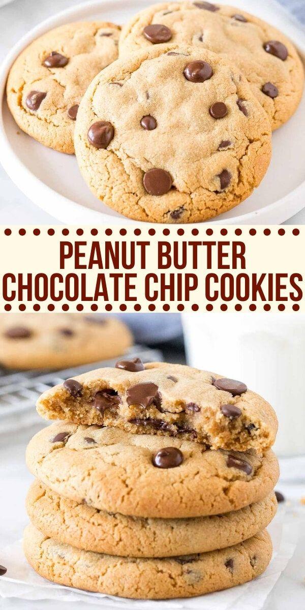Peanut Butter Chocolate Chip Cookies Recipe Peanut Butter Chocolate Chip Cookies Chocolate Chip Cookies Peanut Butter Chocolate Chip