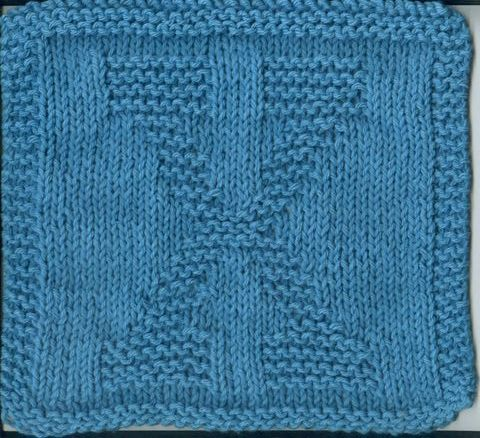 12 Best Knitted Alphabet Squares Images On Pinterest