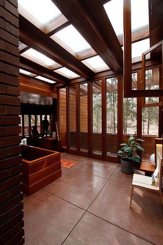 Affleck house,  Frank Lloyd Wright. Usonian Style. Bloomfield Hills, Michigan.1940