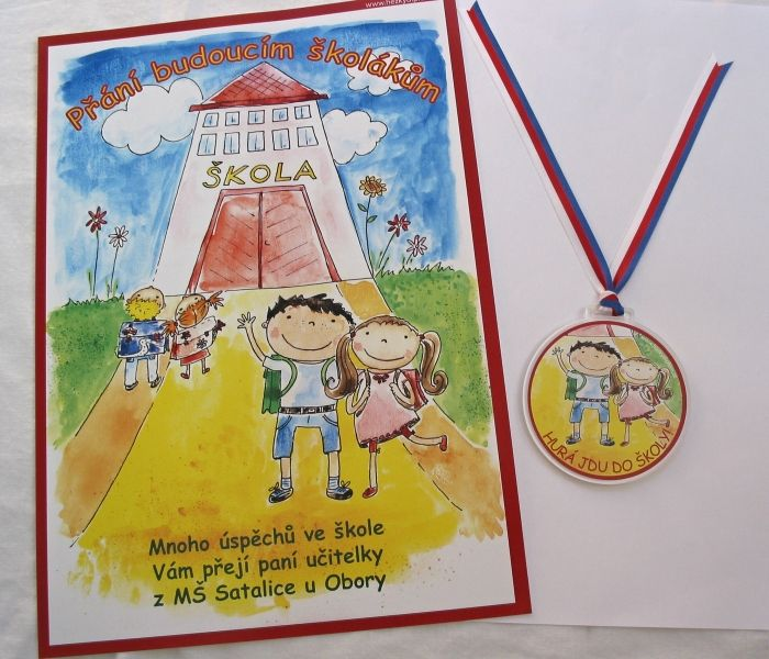 medaile pro školáky a přání budoucím školákům