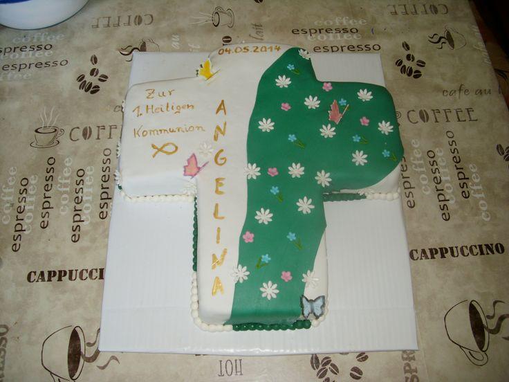 communions cross cake kommunionstorte kreuz cake kommunionstorte kreuz ...