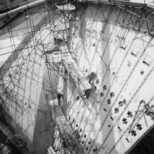 Jorn Utzon Sydney Opera House photonegatives: 135. Shell construction, 1965. (ON 122/678) - Digital Order No. a271004