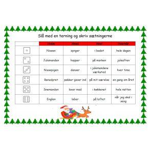 Juleroulette - skriv sætninger