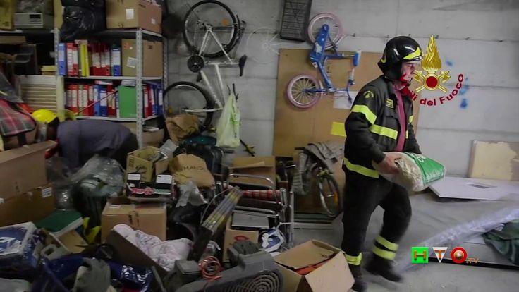 Vigili del Fuoco -San Pellegrino - Recupero beni personali - www.HTO.tv