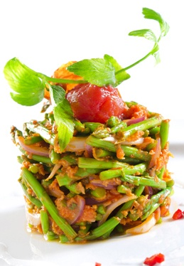 Kerabu Asparagus – Tender asparagus tossed in fresh red chilli and ...
