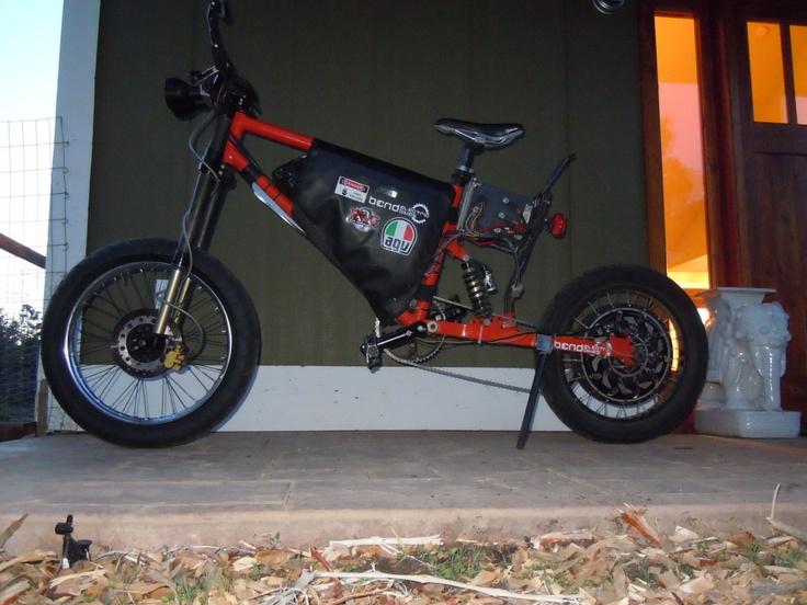 Farfle's PI2, 75mph fastest hub motor bike ever