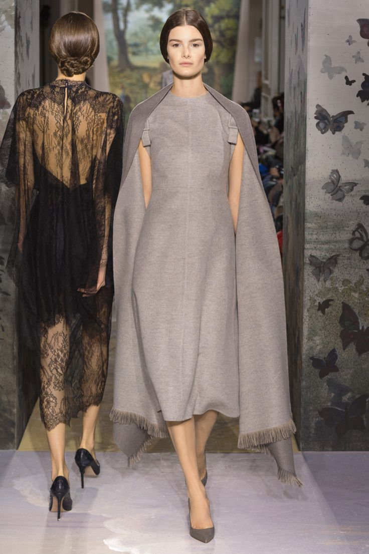 """La dame du lac"", lead grey and steel cape and dress in ..."