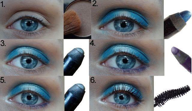 Beauty blog: Fotonávod: modrofialové líčení