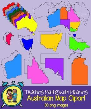 Australia Map Clipart - 30 images!