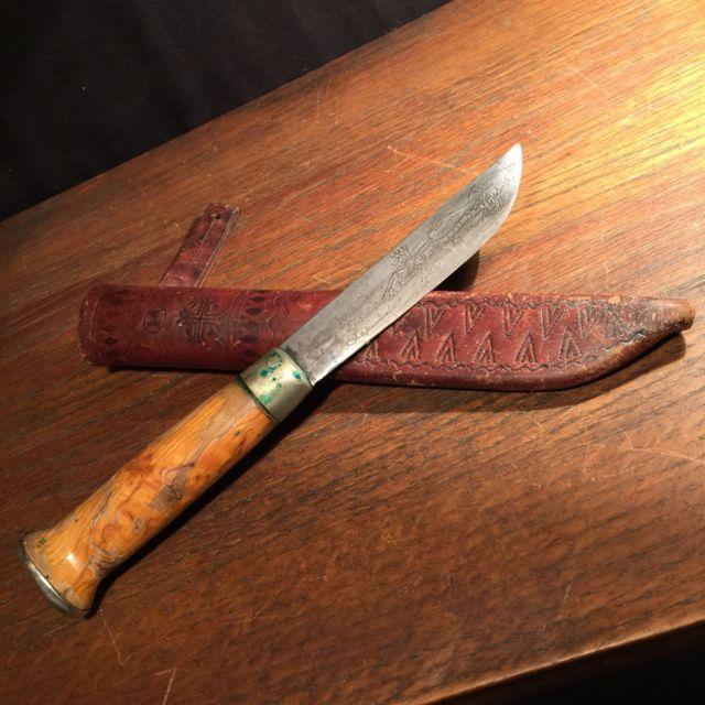 Vintage Knife J. Marttini Finland Engraved Caribou Hunting Sheath PRIORITY MAIL   eBay