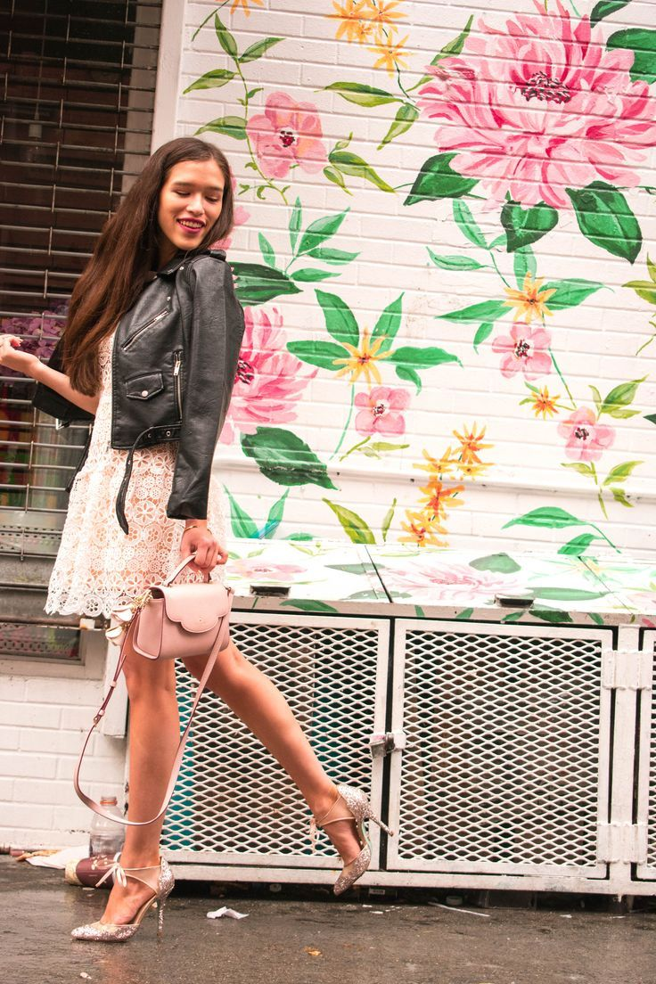 29c1bb6bdad Style and travel blogger from NYC Eva Phan of Eva Darling in white Self  Portrait lace