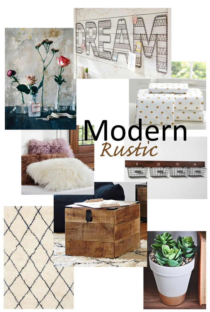 Modern-Rustic Decorating Ideas + Tips for Small Space Decorating