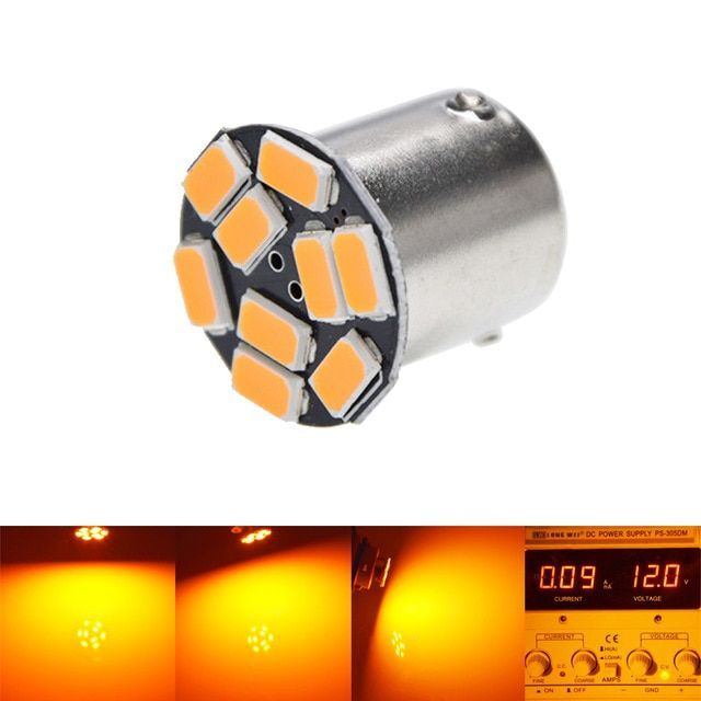 1156 Bau15s 9smd Amber Yellow Led Lamp Py21w Led Car Bulbs Turn Signal External Lights Car Light Source Parking 12v Led Car Bulbs External Lighting Car Lights