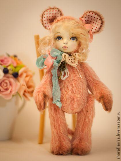 Мишки Тедди ручной работы. Ярмарка Мастеров - ручная работа Мышка Олли,тедди-долл. Handmade.