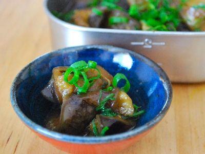 ご飯のお供に、常備菜の味しみ「ナスの田舎煮」
