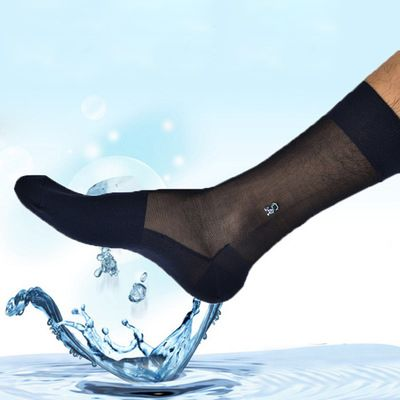 men's socks thin stocking spring and summer Gentleman socks transparent stockings men socks deodorant material nylon stocking