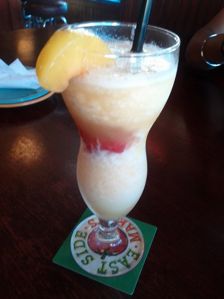 my favorite drink a peach bellini from East side Mario's