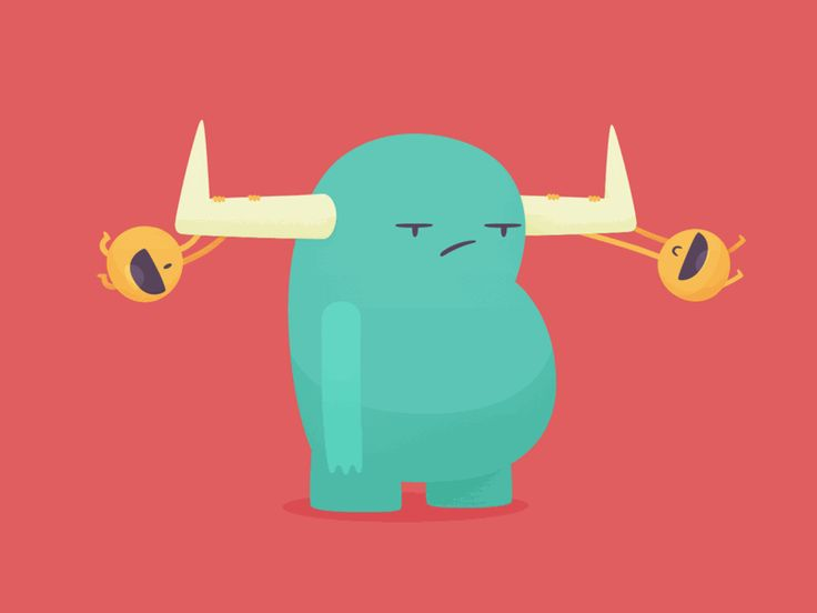 I love that  Freakin' Monster by @fitzfitzpatrick so much, so i animated it. Press L to keep them swing.  This GIF created by http://gifgun.cc — one-click gif tool for After Effects. Yep, gifs righ...
