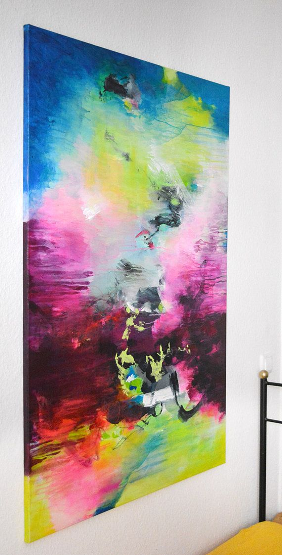 Original XL abstract painting paintings on canvas von ARTbyKirsten