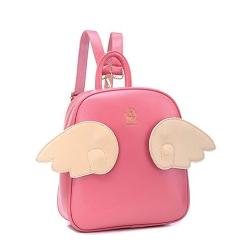 Ashley's backpack - 2014 Pink Angel Wing Backpack from Moooh!!