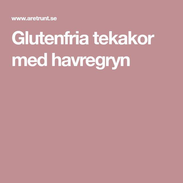 Glutenfria tekakor med havregryn
