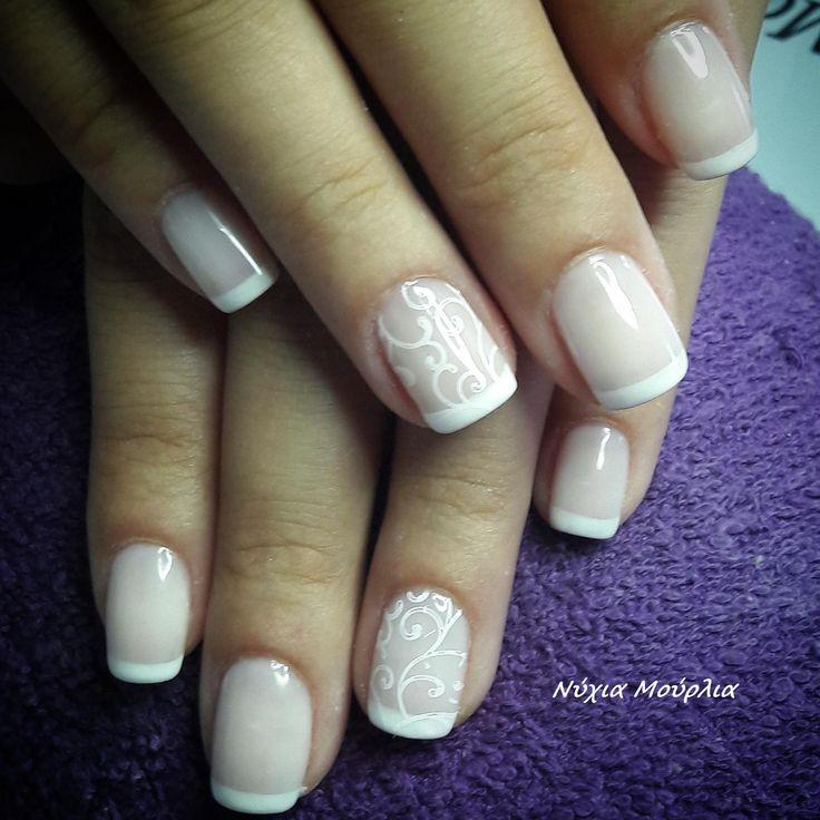 French nails~stamping nails