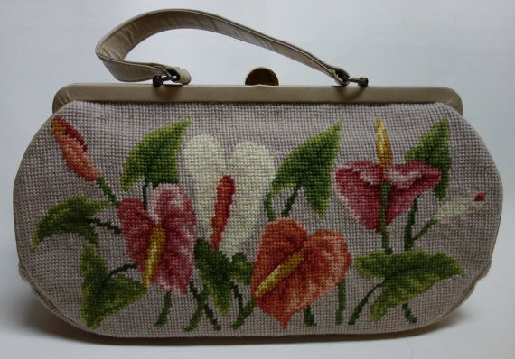 60s Tropical Tapestry Handbag KORO CREATIONS Cala by Vintageables