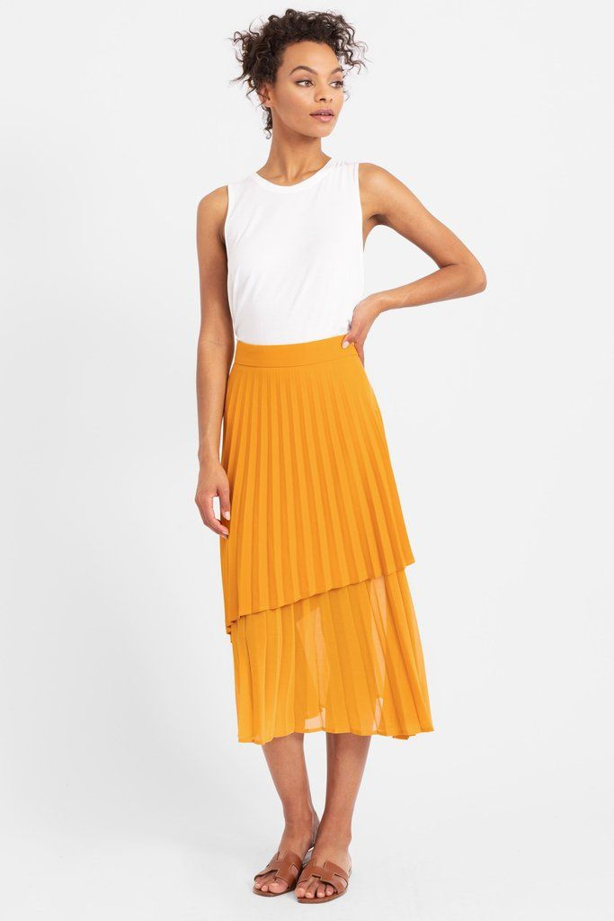 9083457d97 Robyn Double Layer Pleated Skirt | Modern Citizen | Fashion Pt. 2 ...
