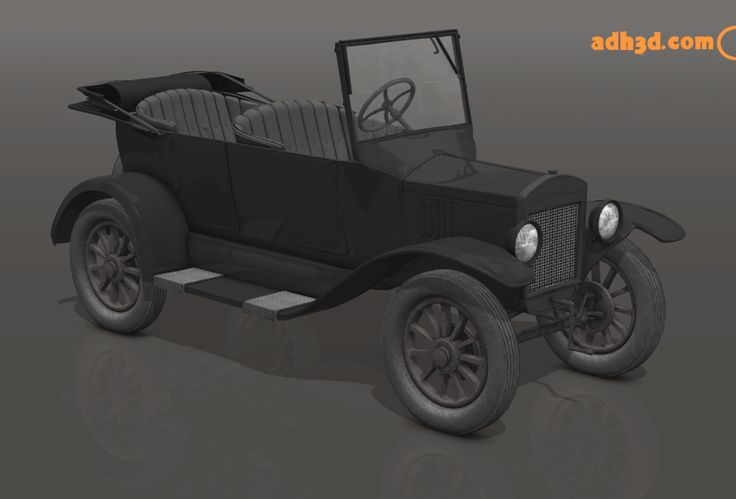 A new 3d car inspired in the 1922 Ford T touring.  Modeled in wings3d and redered in Poser
