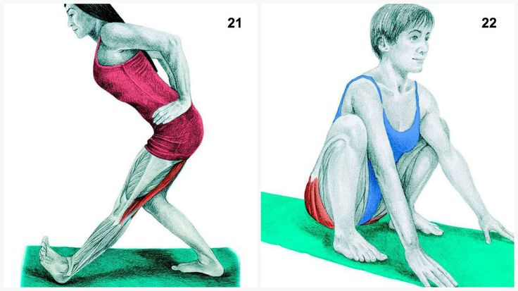 Learn correct technique and the specific muscles you're working with these 34 common stretches and yoga poses.