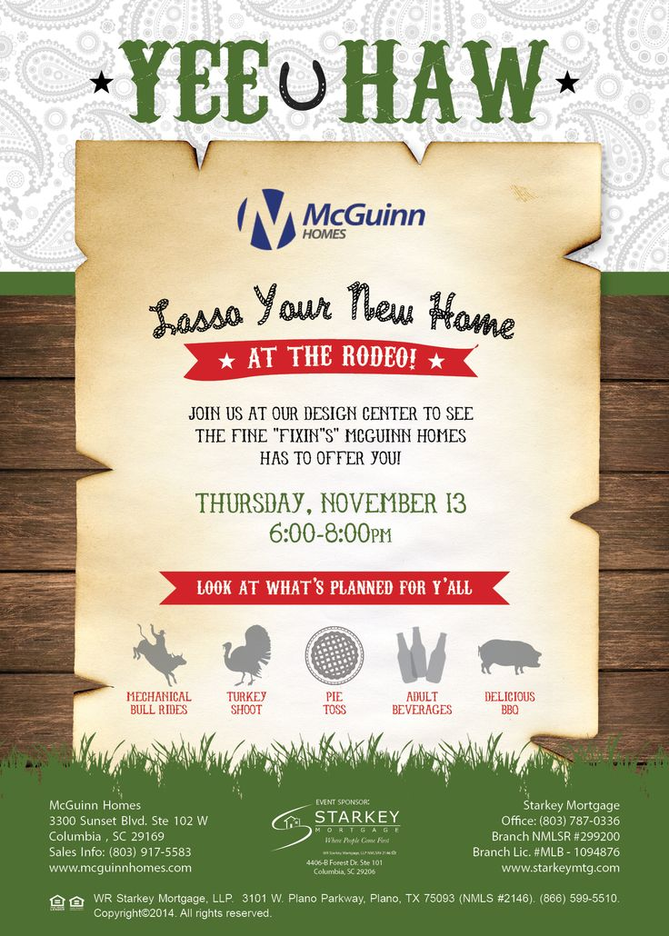 Rodeo Flyer Builder Flyer Lasso Your New Home Mcguinn