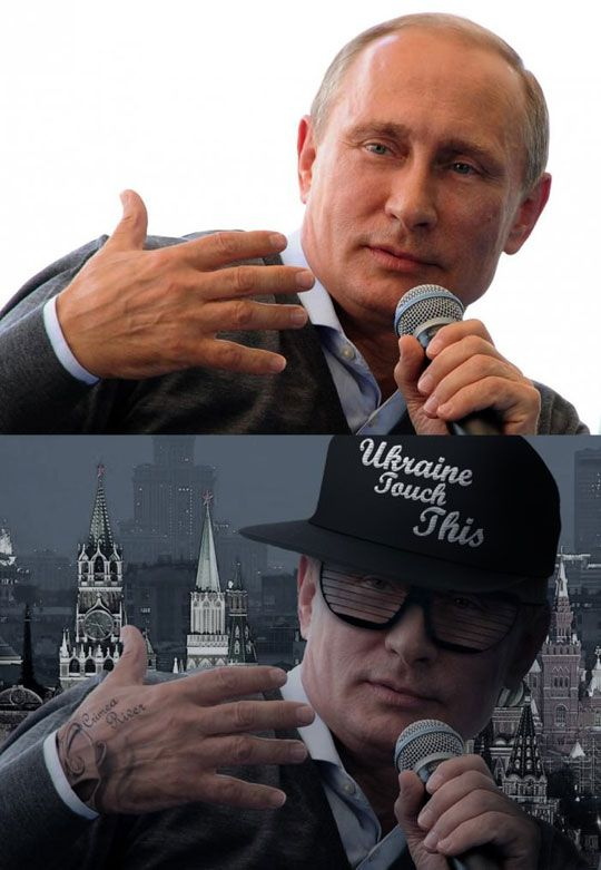 "Just Putin It Here<<<<<It's that and ""Ukraine touch this"" that made me pin this"