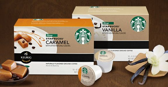 FREE sample of new Starbucks flavored K-Cup packs is today's freebie of the day! #freebie #freesample #Starbucks