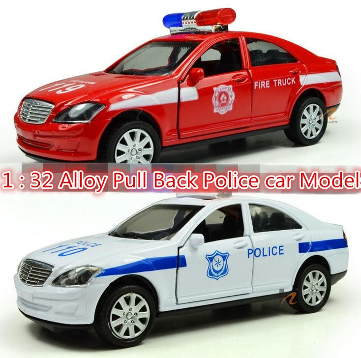 Super cool !1 : 32 Pull Back sound and lights alloy car toy Police car Models,Children's best birthday gift