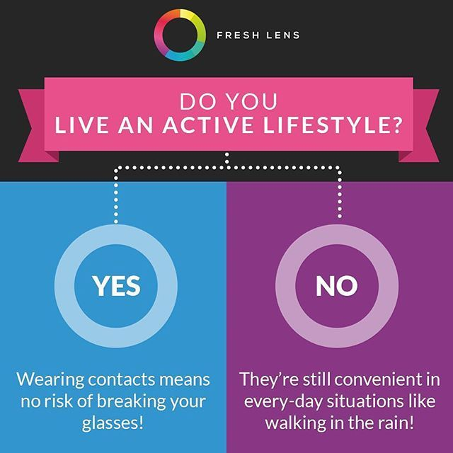 Contacts are practical for daily life regardless of what comes your way - rain…