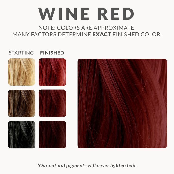 Wine Red Henna Hair Dye – Henna Color Lab® – Henna Hair Dye