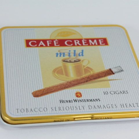 Cafe creme cigar box vintage cigar tin tin box by Sweetlakevintage