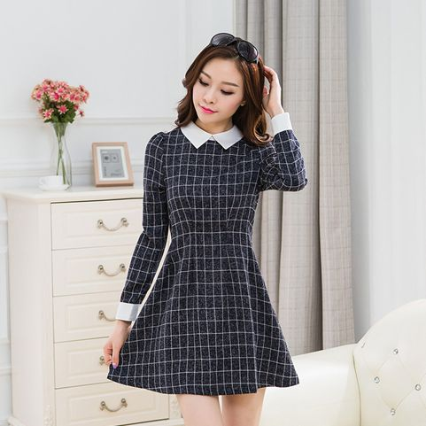 Korean Fashion Long Sleeved Dress Korean Fashion Pinterest Moda Coreana Patrones Y Moda